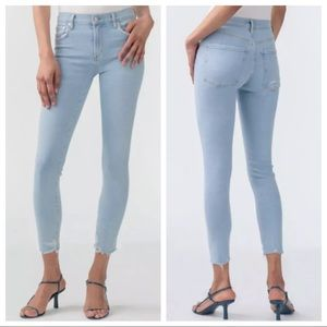Agolde Sophie Mid Rise Skinny Crop Jeans